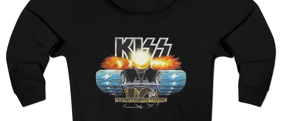 KISS 10th anniversary tank hoodie Unisex Premium Full Zip Hoodie