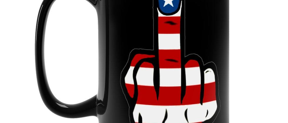 American Finger  Black Mug 15oz