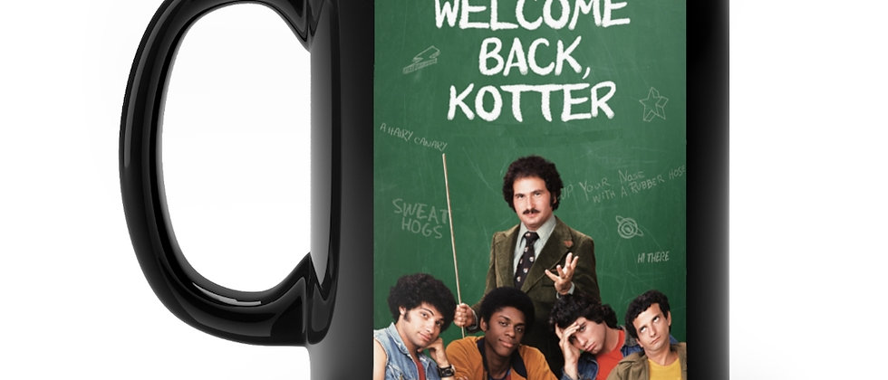 Welcome Back Kotter Television Show From the 70's Black mug 11oz