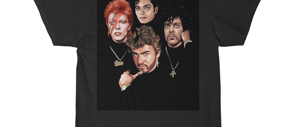 Fallen Heroes Of Rock 2 Prince, Bowie, Michael George Men's Short Sleeve T Shirt