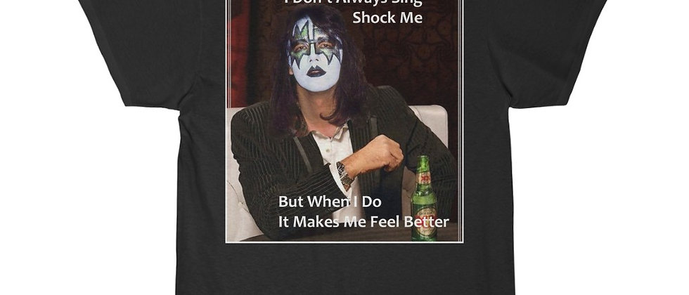 KISS Ace Frehley Mock Dos Equis Advertisement t-shirt