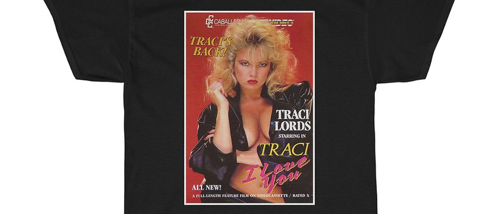 Sexy Traci Lords last X movie vhs cover  Unisex Heavy Cotton Tee