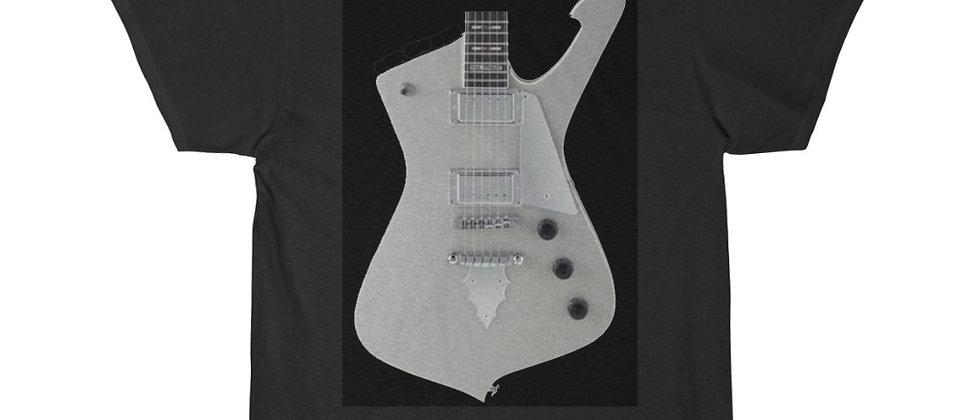 KISS Paul Stanley Ibanez PS-10 Iceman Silver Glitter Guitar Short Sleeve Tee