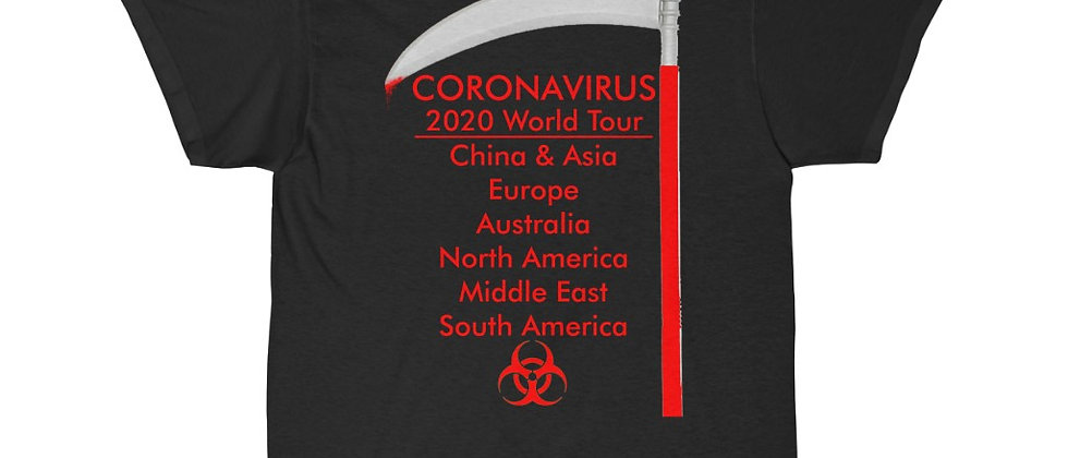 What if the Corona Virus was a Death METAL BAND Tour Shirt  Short Sleeve Tee