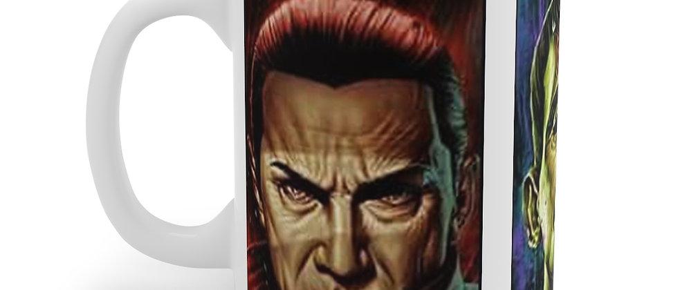 Dracula Frankenstein Wolfman white Mug 11oz