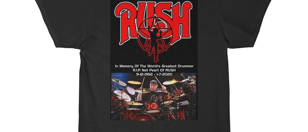 Neil Peart of RUSH Drums R.I.P. 3 Short Sleeve Tee