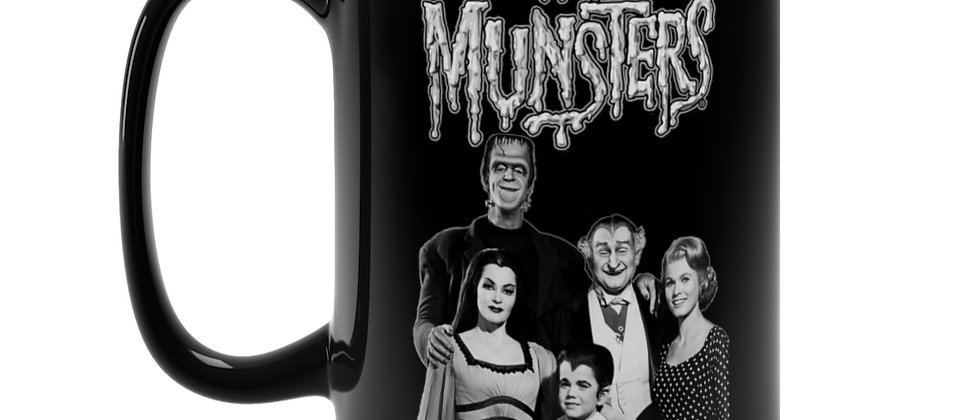 The Munsters  Black Mug 15oz