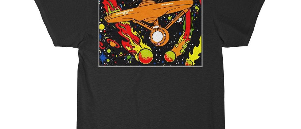Star Trek Animated Series USS Enterprise black light poster Short Sleeve Tee