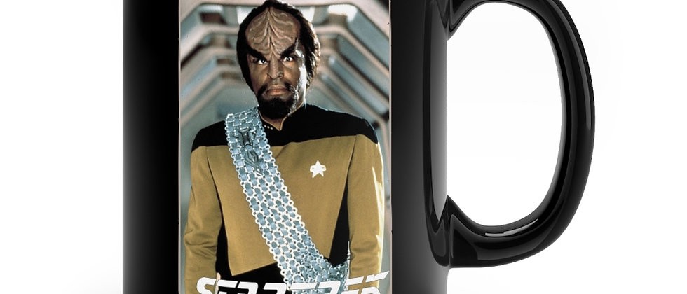 Star Trek Lt Commander Worf  Black mug 11oz