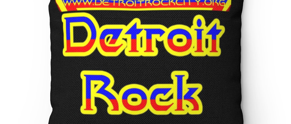 Detroit Rock City funky logo Spun Polyester Square Pillow