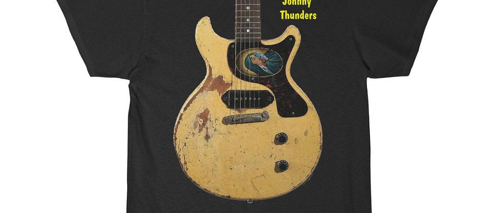 Johnny Thunders' Legenday Guitar of choice Gibson LP jr  Men's Short Sleeve Tee