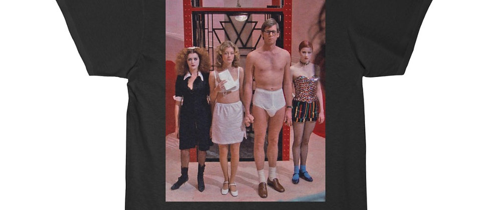 Rocky Horror Picture Show Brad Janet Columbia Magenta Men's Short Sleeve T Shirt
