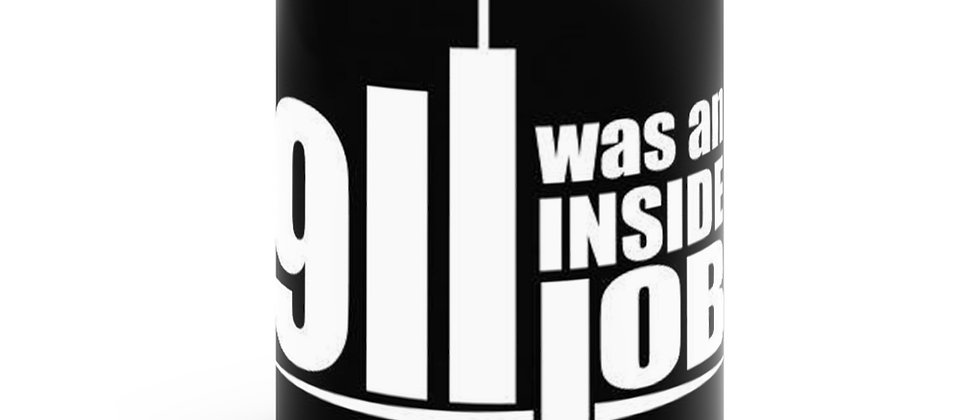 911 Was An Inside Job Black mug 11oz