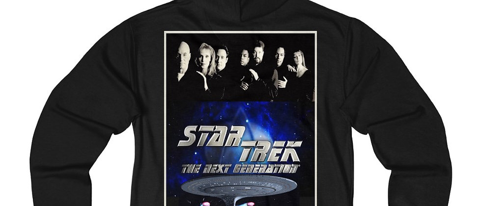 Star Trek TNG Cast Silhouette Unisex French Terry Zip Hoodie
