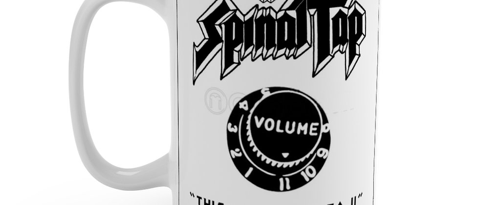 Spinal Tap this one goes to 11 on white Mug 15oz