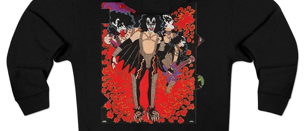 KISS solo Gene Simmons w/ red logo hoodie Unisex Premium Full Zip Hoodie