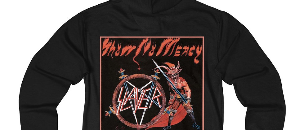 SLAYER Show No Mercy  Blues Unisex French Terry Zip Hoodie