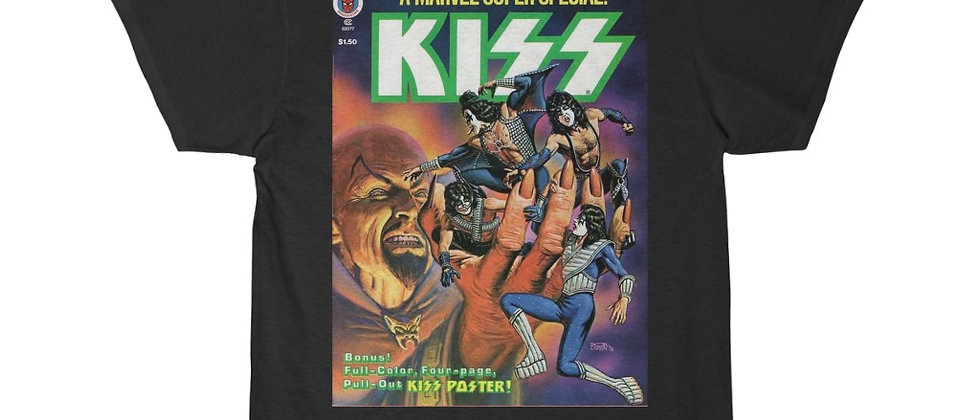 KISS, PAUL STANLEY, COMIC BOOK, T SHIRT, GENE SIMMONS, ACE FREHLEY, PETER CRISS, END OF THE ROAD