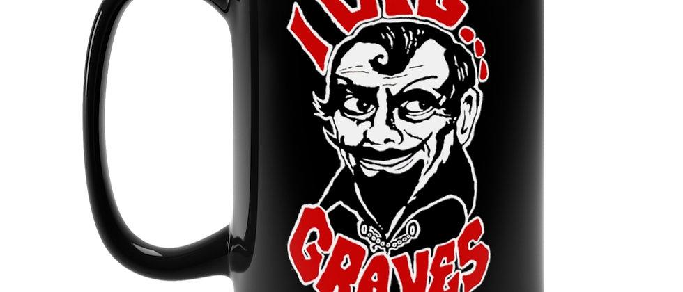 Sir Graves Ghastly I dig Graves Detroit Horror host legend  Black Mug 15oz