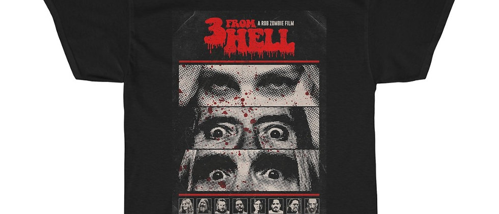 Rob Zombie 3 From Hell Unisex Heavy Cotton Tee