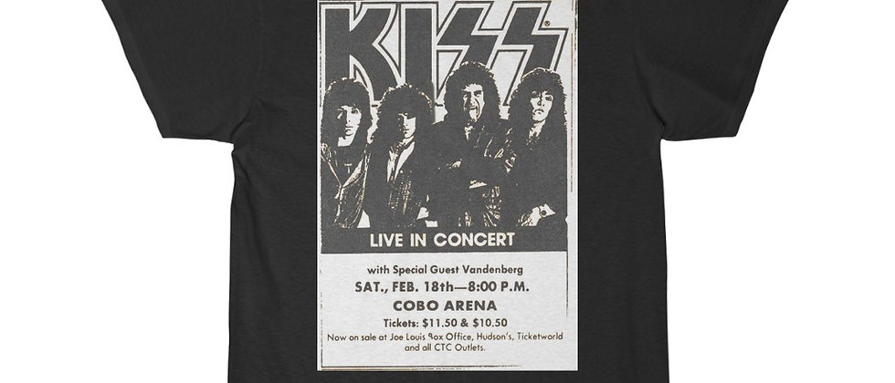 KISS Lick It Up Detroit Show Ad 1983 Short Sleeve Tee T Shirt