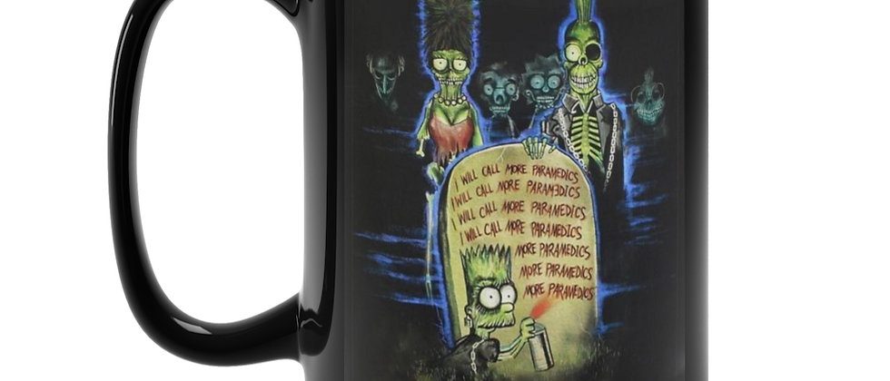 Simpsons Return Of The Living Dead Poster  Black Mug 15oz
