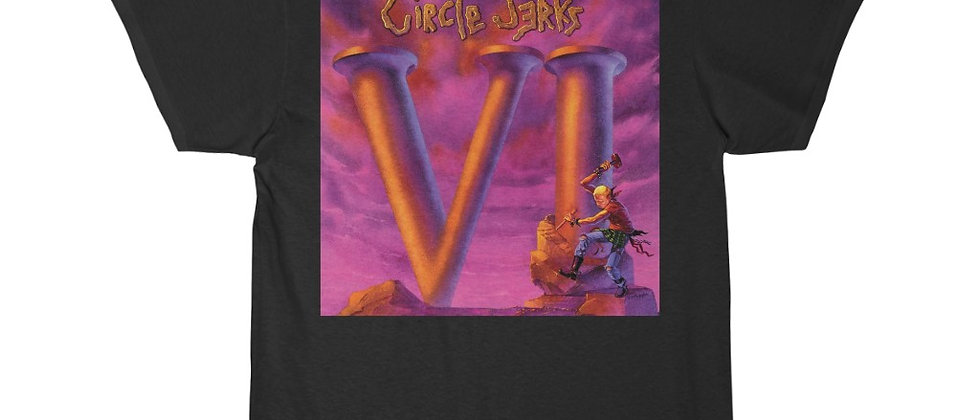 Circle Jerks VI (6) cover Special 2 sided Short Sleeve Tee