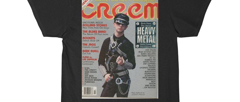 Creem Magazine Oct 1980 Rob Halford of Judas Priest Short Sleeve Tee