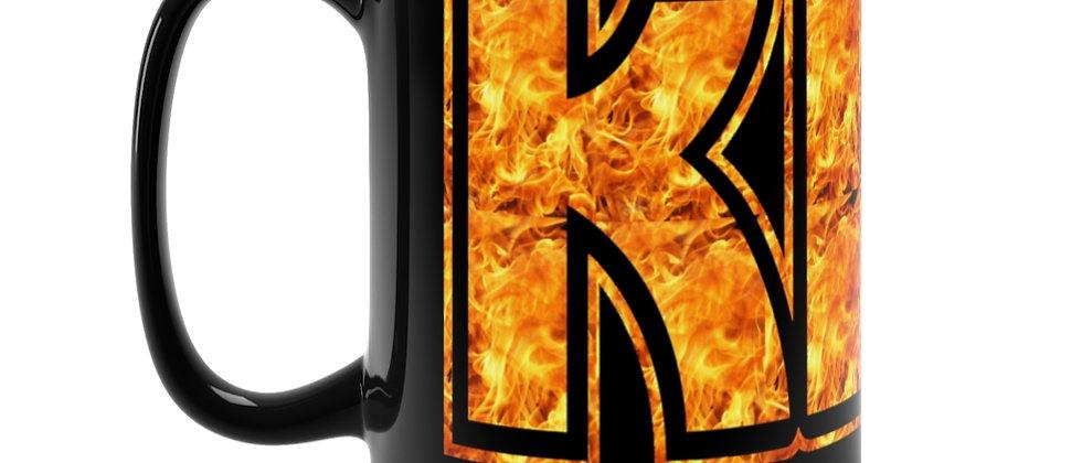 KISS Fire logo Black Mug 15oz