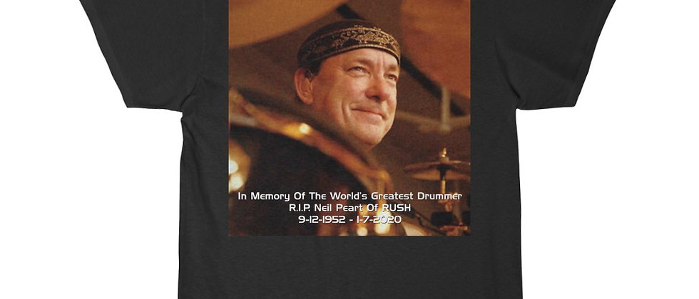 Neil Peart of RUSH Drums R.I.P. 4 Smile Professor Short Sleeve Tee