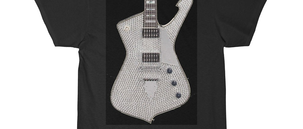 KISS Paul Stanley Ibanez PS-10 Rinestone Iceman Guitar Short Sleeve Tee