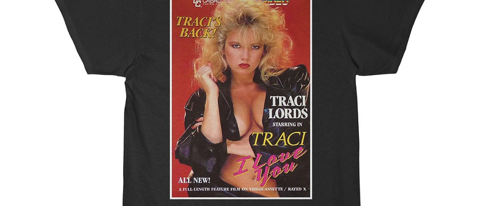 Sexy Traci Lords last X movie vhs cover  Short Sleeve Tee