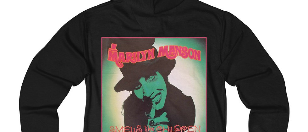 MARILYN MANSON Smells like Children Unisex French Terry Zip Hoodie