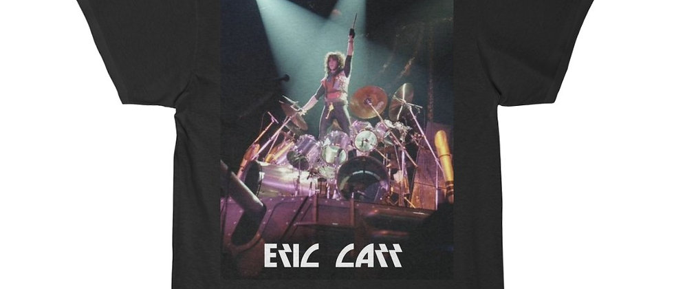 Eric Carr of KISS on the Drums  Men's Short Sleeve T Shirt