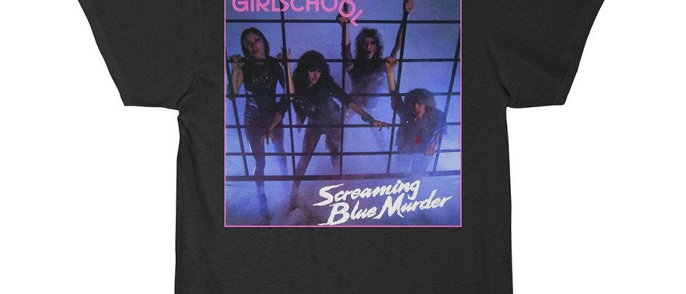 GIRLSCHOOL Screaming Blue Murder  Short Sleeve Tee