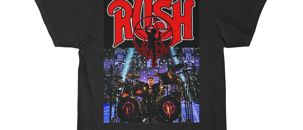 Neil Peart of RUSH on the Drums R.I.P. Short Sleeve Tee
