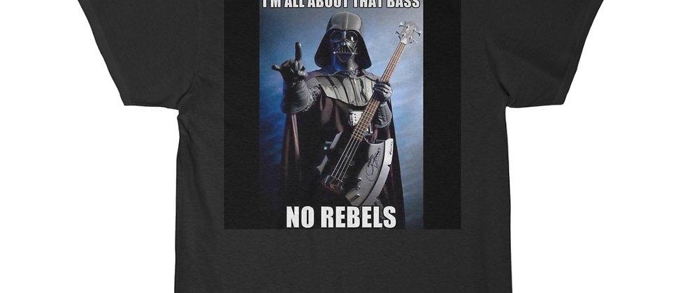 DARTH VADER All Bass No Rebels Men's Short Sleeve Tee