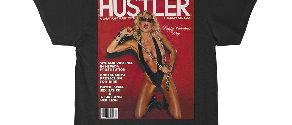 MISSING PERSONS Dale Bozzio on the cover of Hustler Men's Short Sleeve Tee