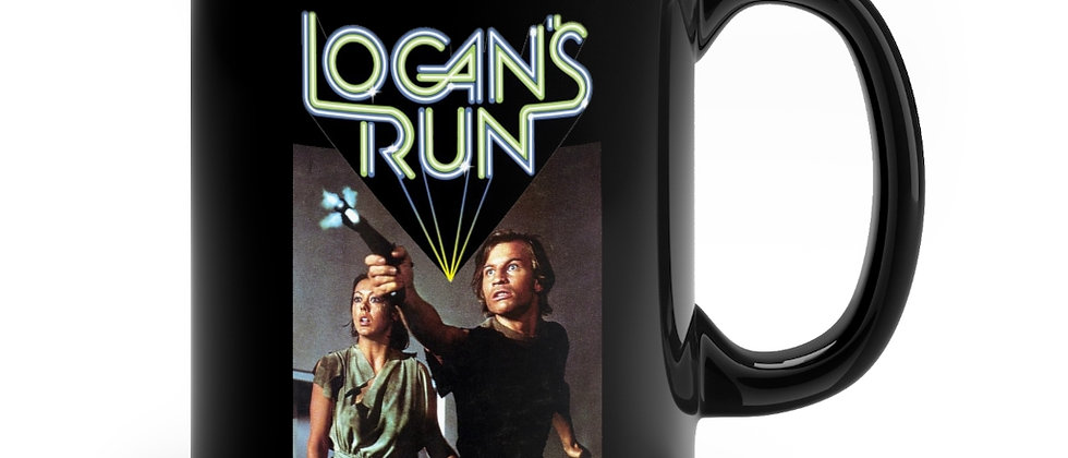 Logan's Run Jessica 6 and Logan Black mug 11oz