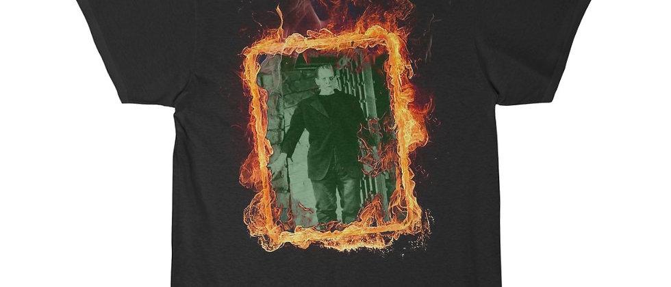 Flame framed Frankenstein's monster Men's Short Sleeve Tee