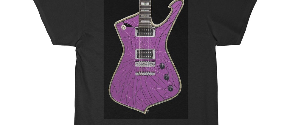 KISS Paul Stanley Ibanez PS-10 Iceman PURPLE Mirror ball Guitar Short Sleeve Tee