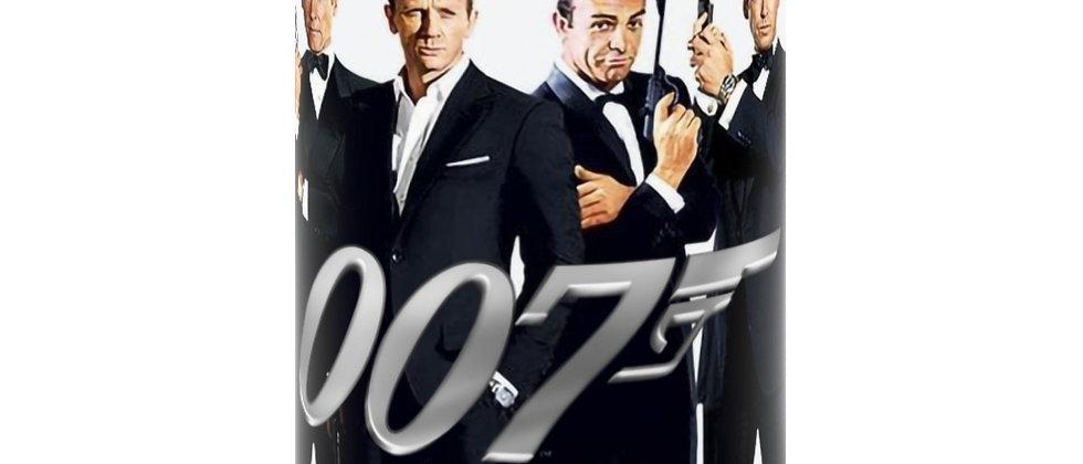 007 A collection of James Bonds   Black Mug 15oz