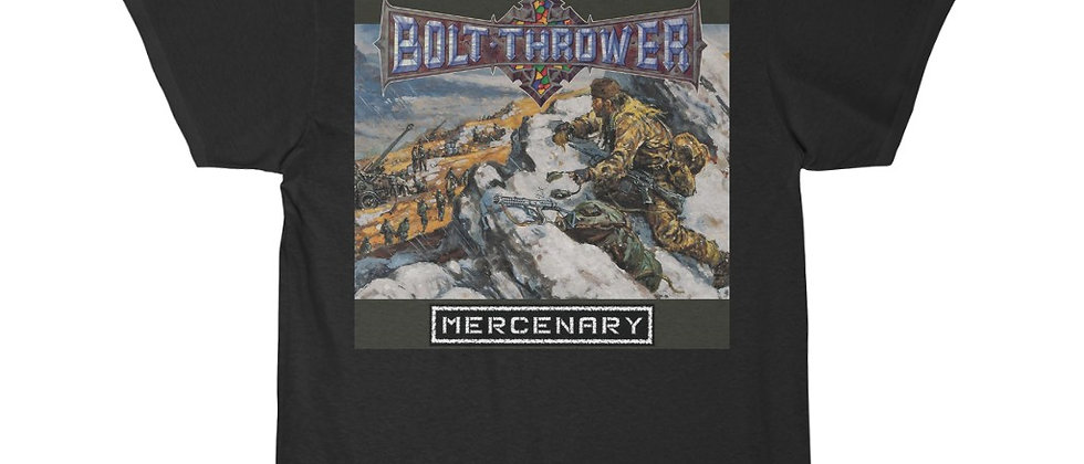 Bolt Thrower Mercenary cover Special 2 sided Short Sleeve Tee