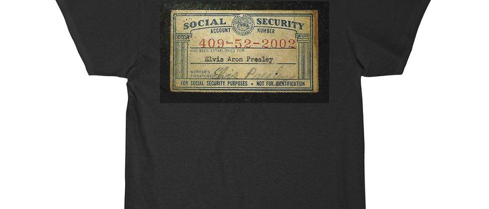 Elvis Presley's Social Security Card Short Sleeve Tee