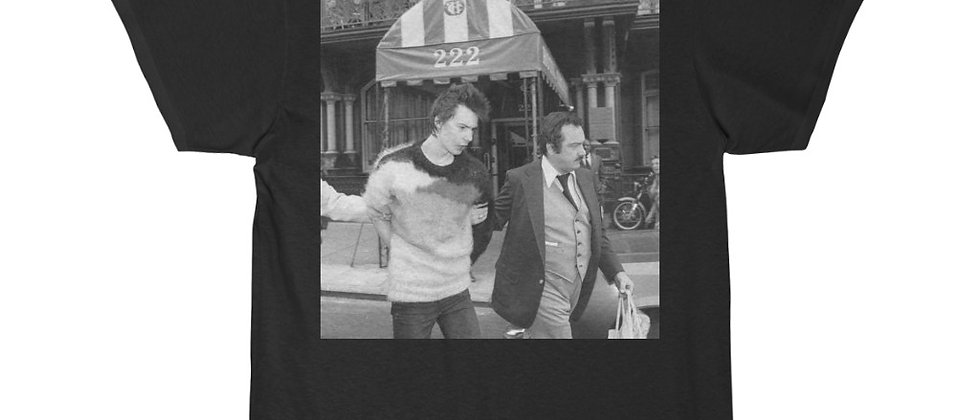 SID VICIOUS Arrested for Murder Short Sleeve Tee
