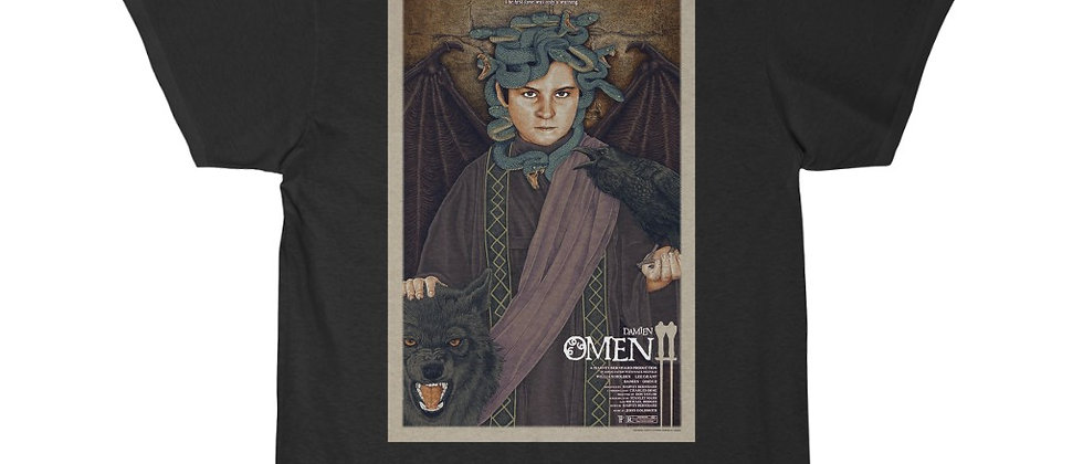 Damian The Omen 2 the wall Poster Short Sleeve Tee