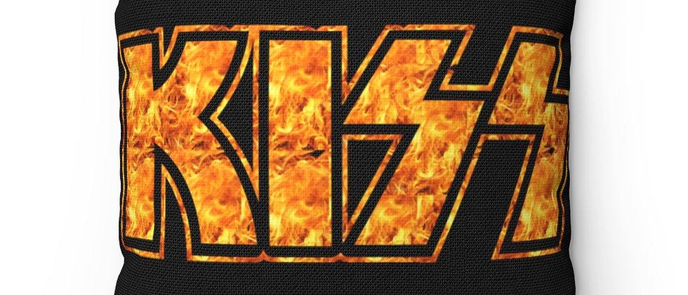 KISS Fire Logo Spun Polyester Square Pillow gift