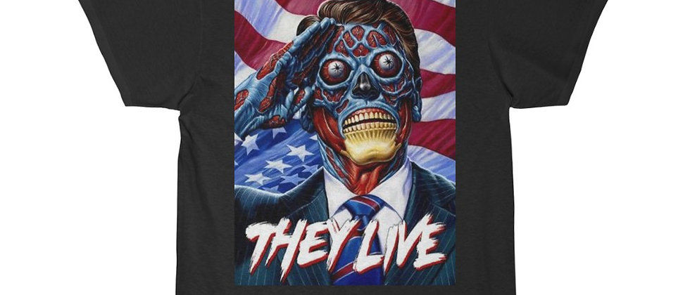 They Live Pledge of Allegence  Men's Short Sleeve Tee