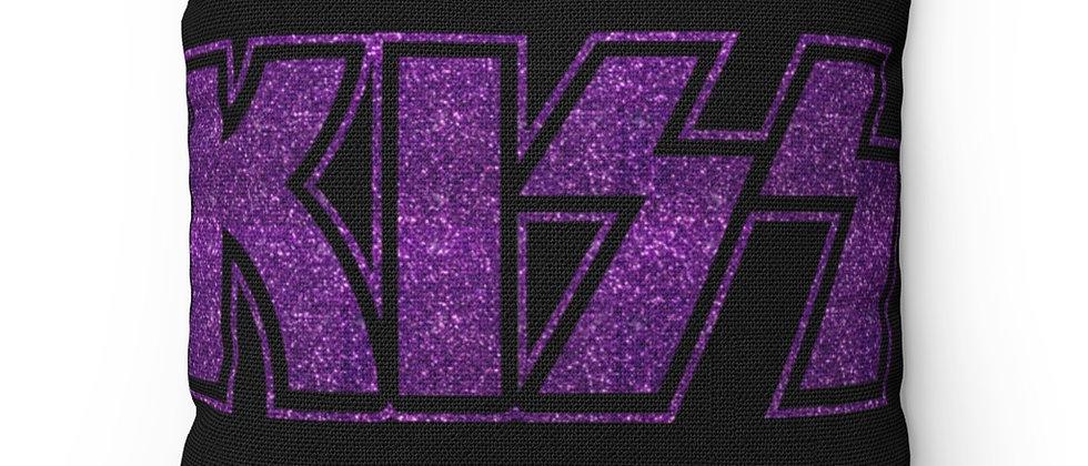 KISS Purple Glitter Logo  Spun Polyester Square Pillow gift