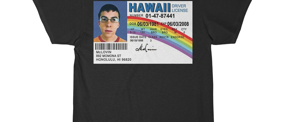 McLovin Hawaii Drivers License Short Sleeve Tee